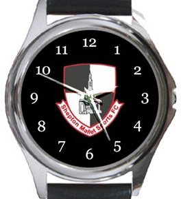 Shepton Mallet Sports FC Round Metal Watch