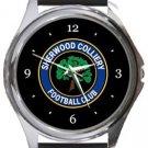Sherwood Colliery FC Round Metal Watch