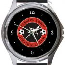 Barrow Town FC Round Metal Watch