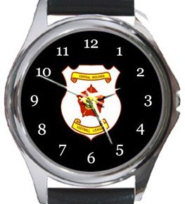 Central Midlands Football League Round Metal Watch