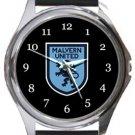 Malvern United FC Round Metal Watch