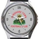 Pershore Town FC Round Metal Watch
