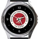Buckingham Town FC Round Metal Watch