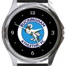 Buckingham Athletic FC Round Metal Watch
