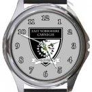 East Yorkshire Carnegie FC Round Metal Watch