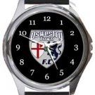 Oswestry Town FC Round Metal Watch