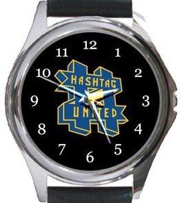 Hashtag United FC Round Metal Watch