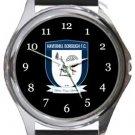 Haverhill Borough FC Round Metal Watch
