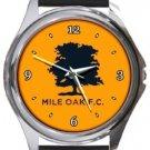 Mile Oak FC Round Metal Watch