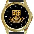 Rylands FC Gold Metal Watch