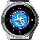 Staines Town FC Round Metal Watch