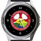 Steyning Town FC Round Metal Watch