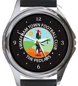 Swaffham Town FC Round Metal Watch