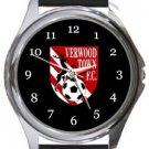 Verwood Town FC Round Metal Watch