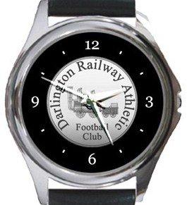 Darlington Railway Athletic FC Round Metal Watch