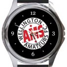 Wellington Amateurs FC Round Metal Watch