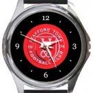 Stafford Town FC Round Metal Watch