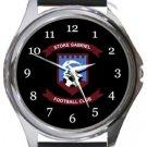Stoke Gabriel FC Round Metal Watch