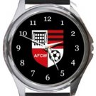 Wallingford Town FC Round Metal Watch