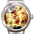 Cute Detective Pikachu Round Italian Charm Watch