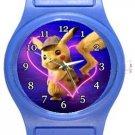 Super Cute Detective Pikachu Blue Plastic Watch