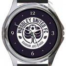 Woodley United FC Round Metal Watch