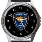Wilmslow Town FC Round Metal Watch