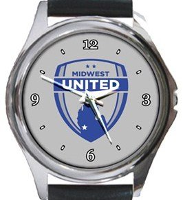 Midwest United FC Round Metal Watch