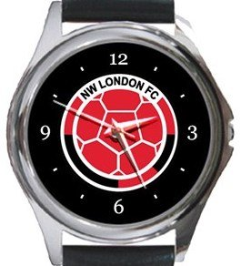 NW London FC Round Metal Watch