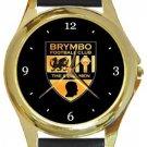 Brymbo FC Gold Metal Watch