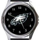 Philadelphia Eagles Football Round Metal Watch