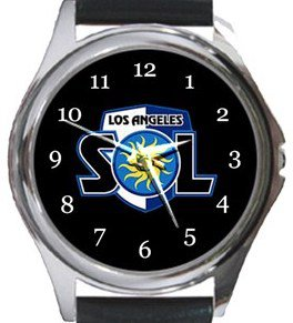 Los Angeles Sol FC Round Metal Watch
