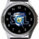Los Angeles Sol FC Round Metal Watch