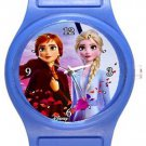 Frozen 2 Anna Elsa Blue Plastic Watch