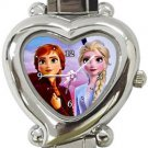 Frozen 2 Anna Elsa Heart Italian Charm Watch