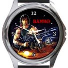 Rambo First Blood Round Metal Watch