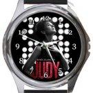 Judy Renee Zellweger Round Metal Watch