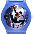 Spiderman Into The Spider Verse Blue Plastic Watch
