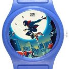 Cool Spiderman Into The Spider Verse Blue Plastic Watch