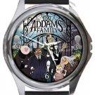 The Addams Family Cartoon Round Metal Watch