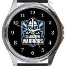 Glasgow Warriors Rugby Round Metal Watch