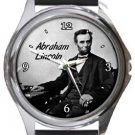 Abraham Lincoln Round Metal Watch