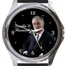 Franklin D. Roosevelt Round Metal Watch