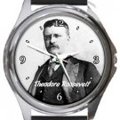 Theodore Roosevelt Round Metal Watch