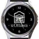 University of Ottawa Round Metal Watch
