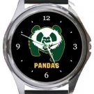 University of Alberta Pandas Round Metal Watch