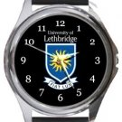 University of Lethbridge Round Metal Watch