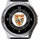 University of Waterloo Round Metal Watch