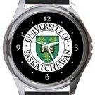 University of Saskatchewan Round Metal Watch