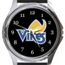 University of Victoria Vikes Round Metal Watch